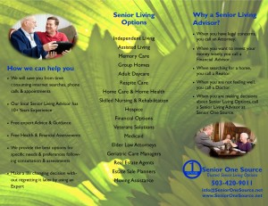 Senior One Source Tri-Fold Brochure Inside